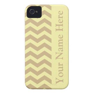 Tan Cream Neutral Chevrons iPhone 4 Cases