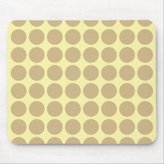 Tan Cream Neutral Dots Mouse Pad