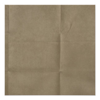 Tan Creased Paper Background Poster