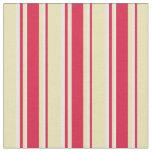 [ Thumbnail: Tan, Crimson, and Light Cyan Pattern Fabric ]