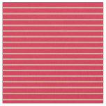 [ Thumbnail: Tan & Crimson Colored Striped Pattern Fabric ]