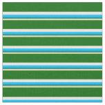 [ Thumbnail: Tan, Dark Cyan, Deep Sky Blue, White & Dark Green Fabric ]