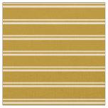 [ Thumbnail: Tan & Dark Goldenrod Colored Pattern of Stripes Fabric ]