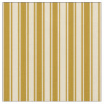 [ Thumbnail: Tan & Dark Goldenrod Colored Stripes Fabric ]