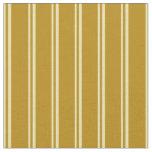 [ Thumbnail: Tan & Dark Goldenrod Pattern Fabric ]