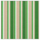 [ Thumbnail: Tan, Dark Green, Lime Green & Mint Cream Colored Fabric ]