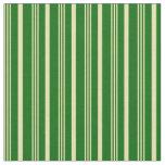 [ Thumbnail: Tan & Dark Green Lines/Stripes Pattern Fabric ]