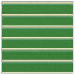 [ Thumbnail: Tan, Dark Khaki, Sea Green & Dark Green Stripes Fabric ]