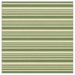 [ Thumbnail: Tan & Dark Olive Green Colored Pattern Fabric ]