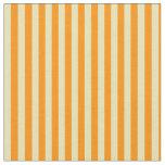[ Thumbnail: Tan & Dark Orange Colored Lined/Striped Pattern Fabric ]