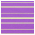 [ Thumbnail: Tan & Dark Orchid Colored Striped Pattern Fabric ]