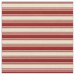 [ Thumbnail: Tan & Dark Red Lines Pattern Fabric ]