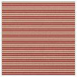 [ Thumbnail: Tan & Dark Red Lines/Stripes Pattern Fabric ]