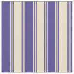 [ Thumbnail: Tan & Dark Slate Blue Colored Pattern Fabric ]