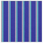 [ Thumbnail: Tan, Dark Slate Blue, Turquoise, and Dark Blue Fabric ]