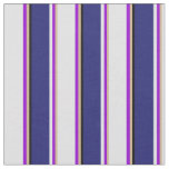 [ Thumbnail: Tan, Dark Violet, Lavender, Midnight Blue & Black Fabric ]