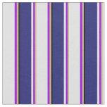[ Thumbnail: Tan, Dark Violet, Lavender, Midnight Blue & Black Fabric ]