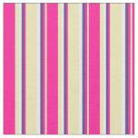 [ Thumbnail: Tan, Deep Pink, Dark Slate Blue & Mint Cream Fabric ]