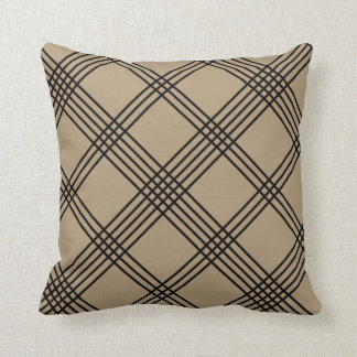 Tan Diagonal Plaid American MoJo Pillo Pillows