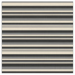 [ Thumbnail: Tan, Dim Gray, and Black Lined/Striped Pattern Fabric ]