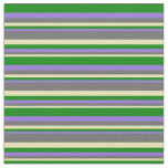 [ Thumbnail: Tan, Dim Gray, Purple, and Green Pattern Fabric ]