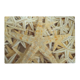 Tan Dried Starfish Laminated Placemat