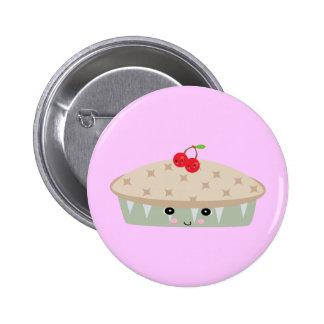 tan empanada de la cereza del kawaii pin redondo 5 cm