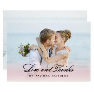 """Tan en el amor el   que se casa gracias foto invitación 5"""" x 7"""""""