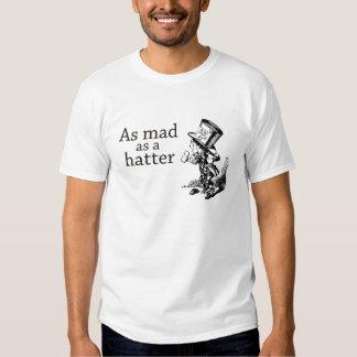 Tan enojado como una camiseta del sombrerero remera