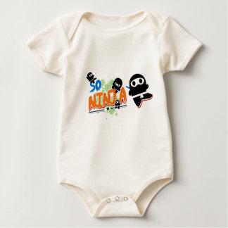 Tan enredadera orgánica negra de Ninja Traje De Bebé