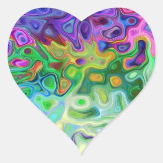 Tan extracto 4,1 pegatina en forma de corazón