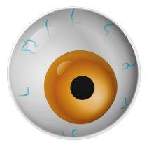 Tan Eyeball Zombie Drawer Knob