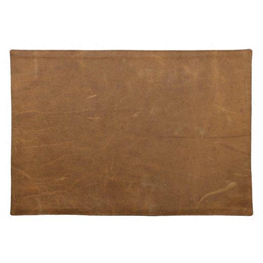 Tan Faux Leather Cloth Placemat Zazzle