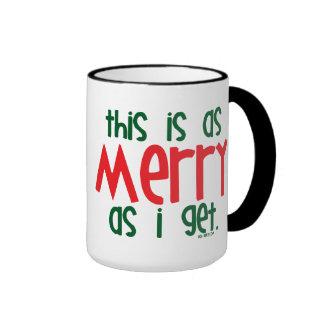 Tan feliz como consigo taza de café