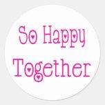 Tan feliz junto ame el casar del pegatina
