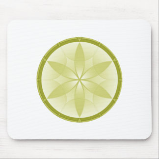Tan Flower Crop Mouse Pad