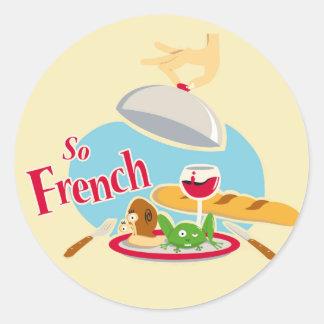 Tan francés etiqueta