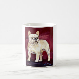 Tan French Bull Dog Classic White Coffee Mug