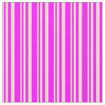 [ Thumbnail: Tan & Fuchsia Colored Lined Pattern Fabric ]
