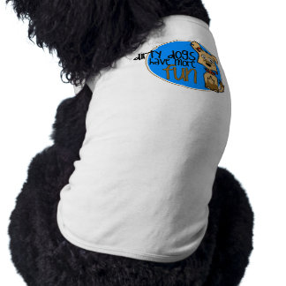 Tan German Shepherd -Blue Logo Dog Shirt