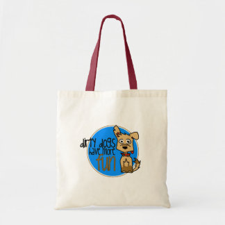 Tan German Shepherd -Blue Logo Tote Bag