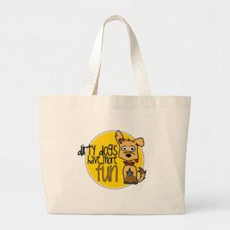 Tan German Shepherd -Yellow Logo Bags