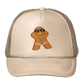 """Tan Gingerbread Man"" Khaki Trucker Hat"
