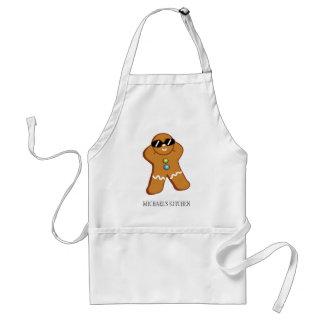 """Tan Gingerbread Man™"" Personalized Name Apron"
