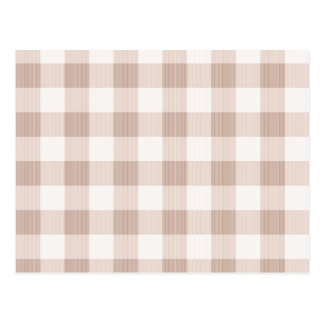 Tan Gingham Plaid Postcard