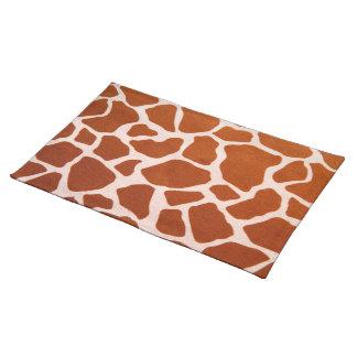 Tan Giraffe Print Cloth Placemat