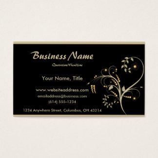 Tan & Gold Vine Design Business Cards