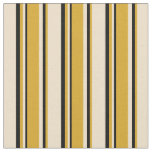 [ Thumbnail: Tan, Goldenrod, and Black Lines/Stripes Pattern Fabric ]