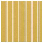 [ Thumbnail: Tan & Goldenrod Stripes/Lines Pattern Fabric ]