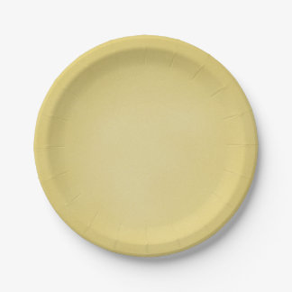 Tan Grainy Texture Look 7 Inch Paper Plate